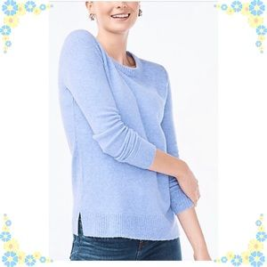 Gorgeous J.Crew 100% cashmere periwinkle sweater